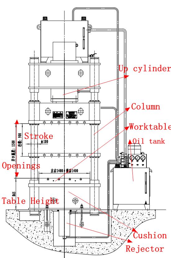wiring diagram ac co hydraulic press machine y27 series  y27 deep drawing  hydraulic press machine y27 series  y27 deep drawing